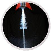 Water Rocket Round Beach Towel