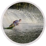 Water Skiing 14 Round Beach Towel