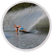 Water Skiing 15 Round Beach Towel