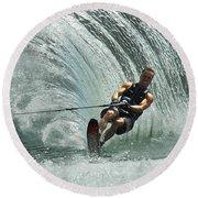 Water Skiing Magic Of Water 10 Round Beach Towel