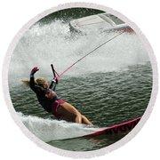 Water Skiing Magic Of Water 28 Round Beach Towel