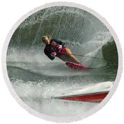Water Skiing Magic Of Water 29 Round Beach Towel
