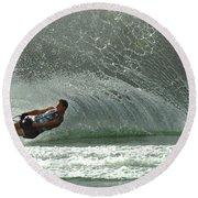 Water Skiing Magic Of Water 7 Round Beach Towel