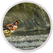 Water Skiing Magic Of Water 8 Round Beach Towel