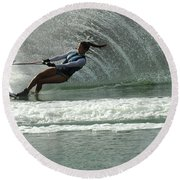 Water Skiing Magic Of Water 9 Round Beach Towel