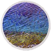 Water Surface  Round Beach Towel