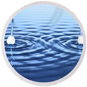 Water Waves Round Beach Towel