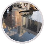 Lincoln Center Reflections Round Beach Towel