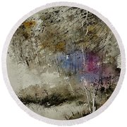 Watercolor 110122 Round Beach Towel