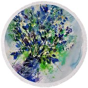 Watercolor 110190 Round Beach Towel
