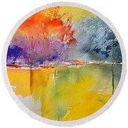 Watercolor 2125632 Round Beach Towel