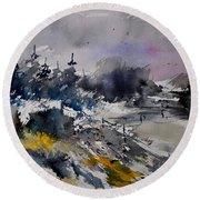 Watercolor 217021 Round Beach Towel