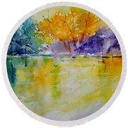 Watercolor 219041 Round Beach Towel