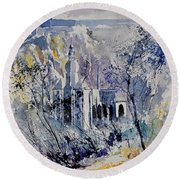 Watercolor Dinant 110172 Round Beach Towel