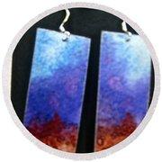 Watercolor Earrings Artists Favorite Round Beach Towel