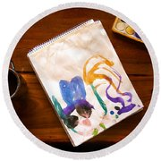 Watercolor Round Beach Towel