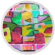 Watercolor Jazz Round Beach Towel