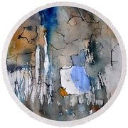 Watercolor213030 Round Beach Towel