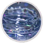 Waterdrop15 Round Beach Towel