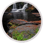 Waterfall Childs State Park Round Beach Towel