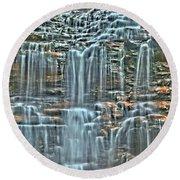 Waterfall Highights Round Beach Towel