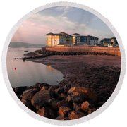 Waterside At Exmouth Round Beach Towel