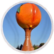 Watery Peach Round Beach Towel