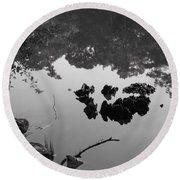 Watery Reflections Round Beach Towel