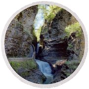 Watkins Glen Spring One Round Beach Towel