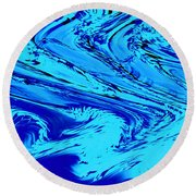 Waves Of Abstraction Round Beach Towel