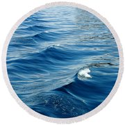 Waves On Tahoe Round Beach Towel