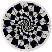 Way To Confusion Round Beach Towel