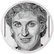 Wayne Gretzky In 1992 Round Beach Towel
