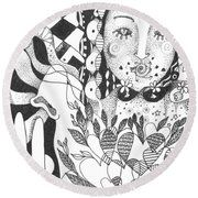 Ways Of Seeing Round Beach Towel