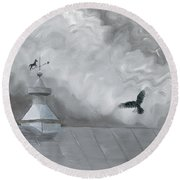 Weather Vane Round Beach Towel