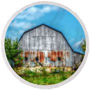 Weathered Barn Round Beach Towel