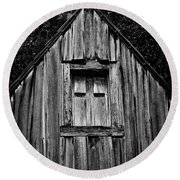 Weathered Structure - Bw Round Beach Towel