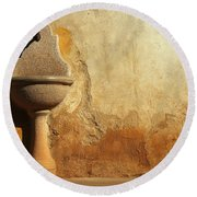 Weathered Water Faucet Round Beach Towel
