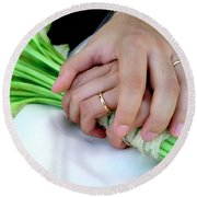 Wedding Rings Round Beach Towel
