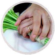 Wedding Rings Round Beach Towel