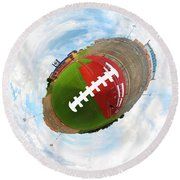 Wee Football Round Beach Towel by Nikki Marie Smith