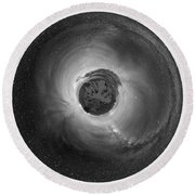 Wee Sequoia Night Sky Planet View Round Beach Towel by Nikki Marie Smith