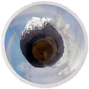 Wee Tongariro Volcanoes Round Beach Towel