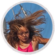 Weightless Hair Round Beach Towel