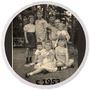Weiner Cousins C 1953 Round Beach Towel