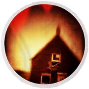 Welcome To Hell House Round Beach Towel by Edward Fielding