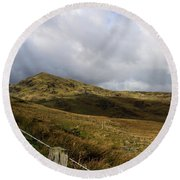 Welsh Landscape I Round Beach Towel