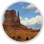 West Mitten Butte Round Beach Towel