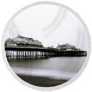 Brighton West Pier Round Beach Towel