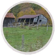 West Virginia Barn 3211 Round Beach Towel